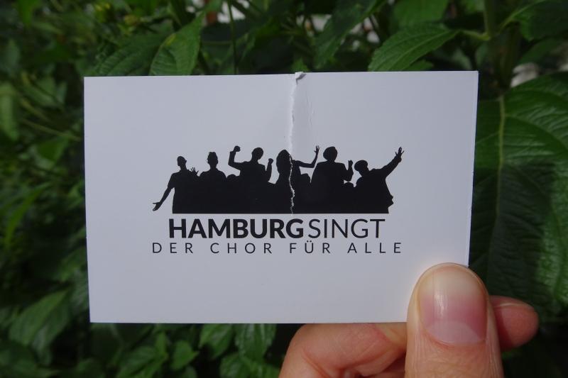 Gemeinsames Singen im Chor Hamburg singt