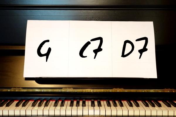 Über Akkorde frei Klavier oder Keyboard spielen lernen.