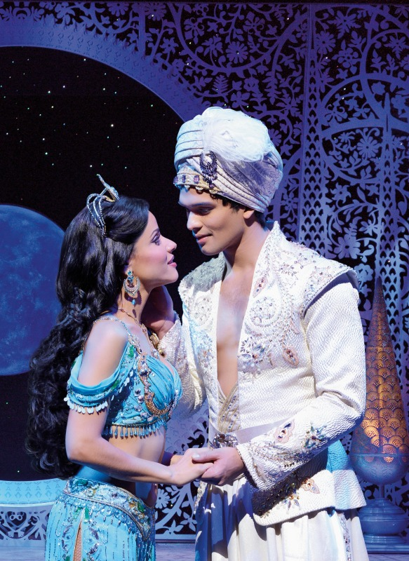 Aladdin und Jasmin aus Disneys Musical Aladdin in Hamburg