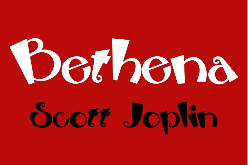Ragtime-Walzer Bethena von Scott Joplin