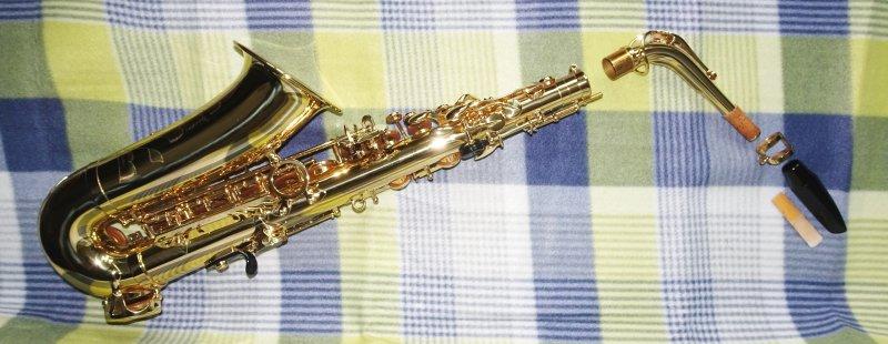 Saxophon zusammenbauen - Die Einzelteile