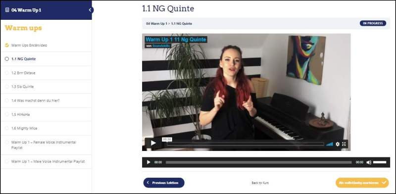 Gesangsunterricht online bei der Soundskills Musikschule