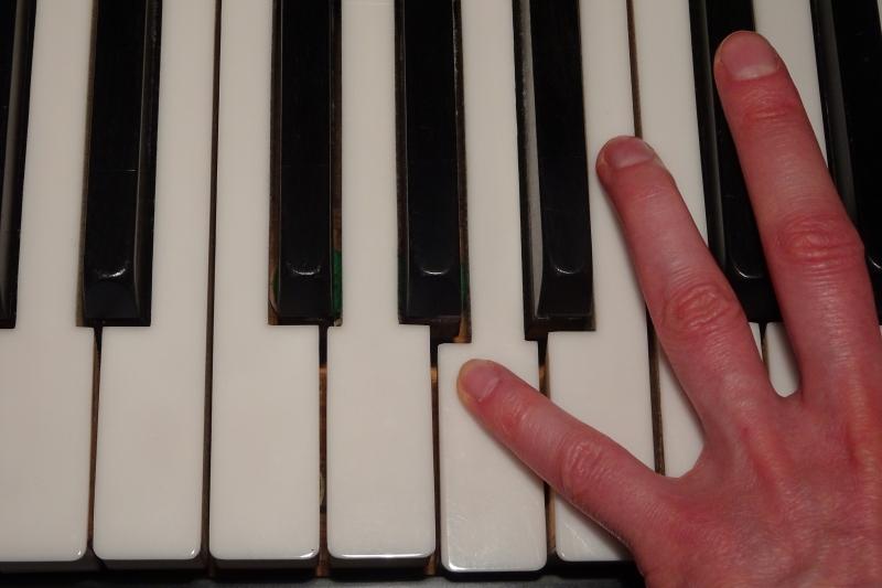 Motorisches Gedächtnis beim Spielen eines Musikinstrumentes.
