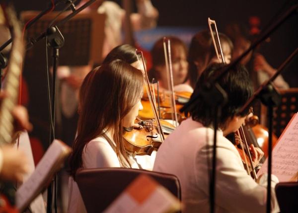 Geiger in einem klassischen Orchester: Möchtest du Violine lernen?