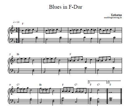 Akkorde 12-Takt-Bluesschema Beispiel