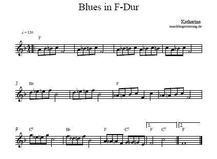 Akkorde am Klavier üben: Blues in F-Dur