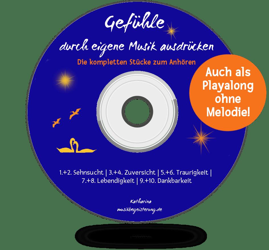 Audios mit Playalong zum Noten-E-Book Gefühle durch eigene Musik ausdrücken.